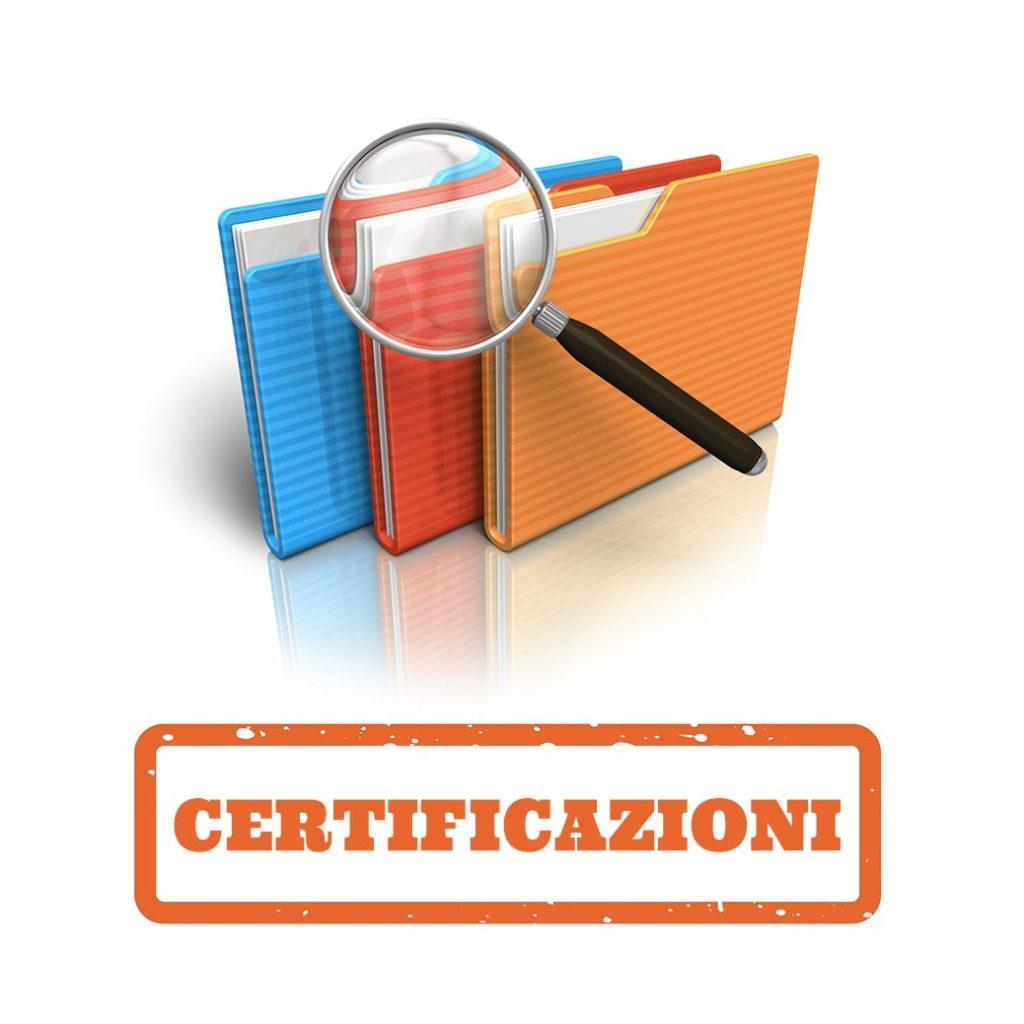Sezione certificazioni