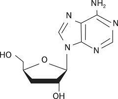 Struttura chimica della cordicepina